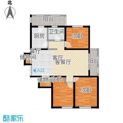 金域蓝城二期G9三居户型3室1厅1卫1厨