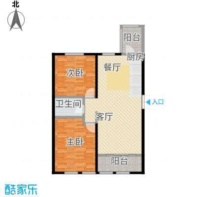 金域蓝城66.10㎡二期G9两居户型2室1厅1卫