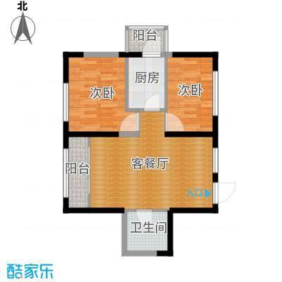宏泽中央公园61.14㎡户型1室1厅1卫