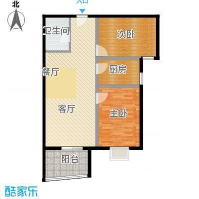 华林国际90.74㎡温馨格调户型10室