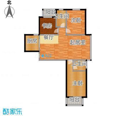 华林国际131.17㎡尊贵宽邸户型10室