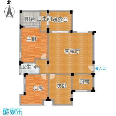 凤凰水城御河湾116.00㎡A2户型3室2厅2卫