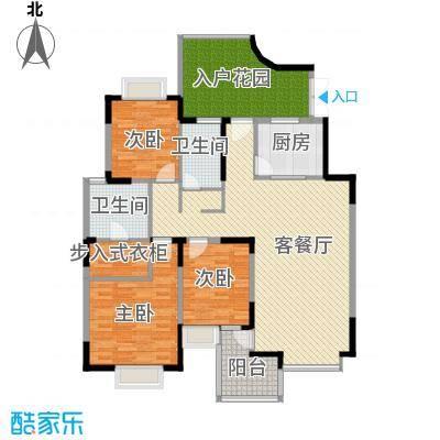 东方国际广场124.19㎡户型10室