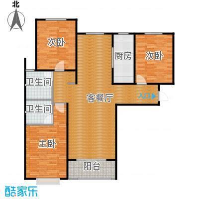 水上丽景141.12㎡D户型3室2厅2卫
