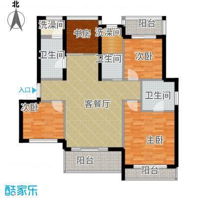 小骆花园103.78㎡5#7#户型4室1厅3卫