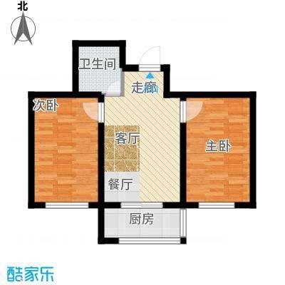 瀛滨寓家园54.12㎡户型2室1卫1厨