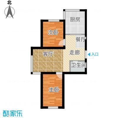 瀛滨寓家园74.90㎡户型2室1卫1厨