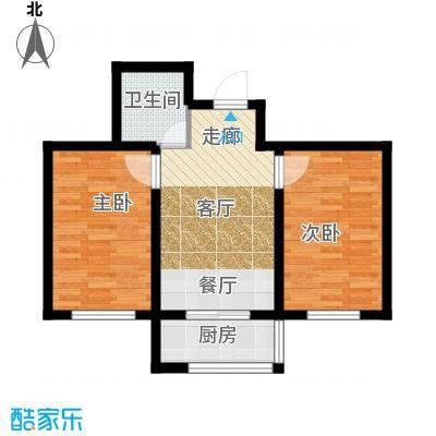 瀛滨寓家园59.90㎡户型2室1卫1厨