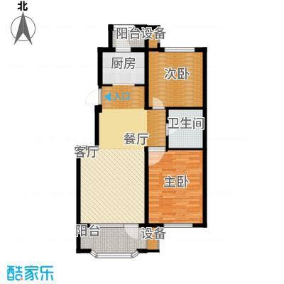 新湖青蓝国际89.22㎡A2户型2室2厅1卫