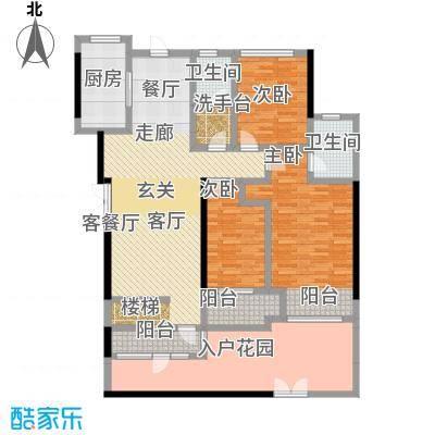 豪门府邸149.29㎡豪门府邸户型图11#C\'户型一层三室两厅两卫(20/26张)户型3室2厅2卫