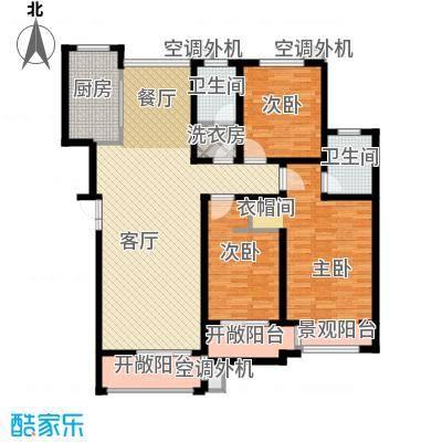豪门府邸149.29㎡11#2-6层-户型3室1厅2卫1厨