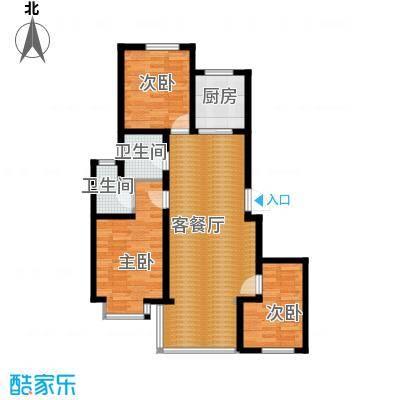北辰商务花园115.73㎡户型3室2厅2卫