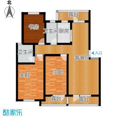 乐城114.72㎡户型3室2厅2卫