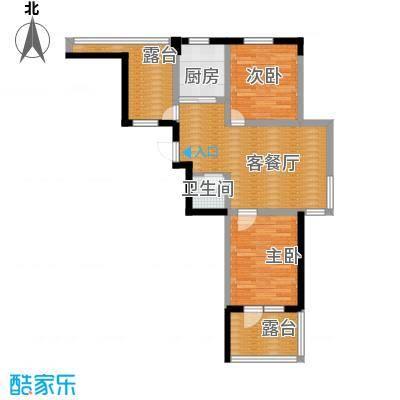 乐城67.46㎡户型2室1厅1卫