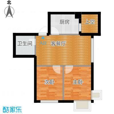 乐城65.01㎡户型2室2厅1卫
