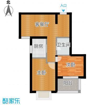 麒麟国际112.00㎡1号楼E户型2室1厅1卫1厨