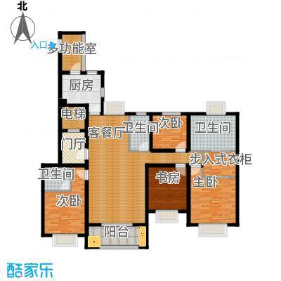 金地东城御院181.00㎡高层B户型10室