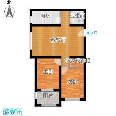 西溪诚园88.60㎡B3户型2室2厅1卫