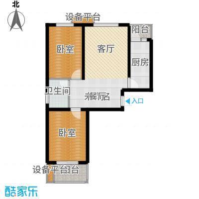 天冠城88.57㎡10号楼A户型2室2厅1卫