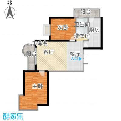 悦城62.45㎡G3/5#户型2室1卫1厨