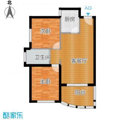 南山六和悦城87.00㎡户型2室2厅1卫