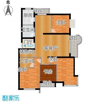 悦城111.80㎡G4/5#户型4室1厅2卫1厨