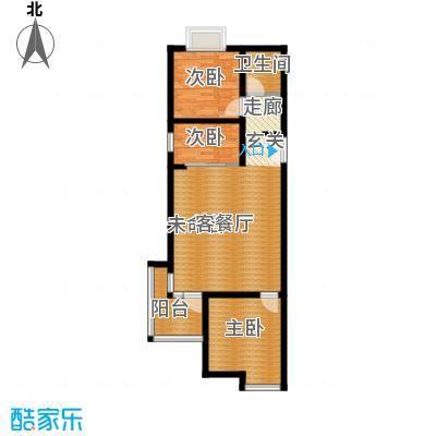 白鹭湾91.00㎡A户型2室2厅1卫