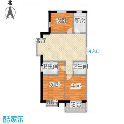西部枫景傲城112.00㎡1号楼户型3室2厅2卫