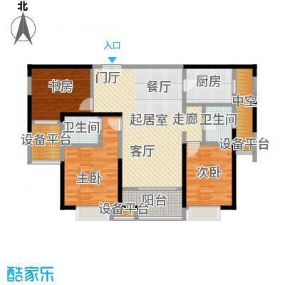九方城G2-2户型 三室两厅户型3室2厅2卫