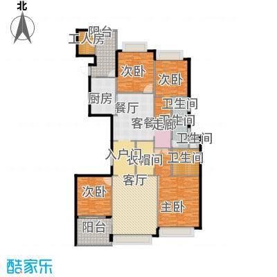 恒大华府281.07㎡15/16号楼3单元四室户型4室1厅4卫1厨