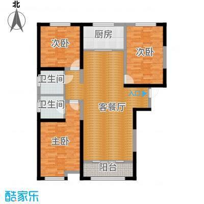 燕都紫阁124.53㎡L户型3室2厅2卫
