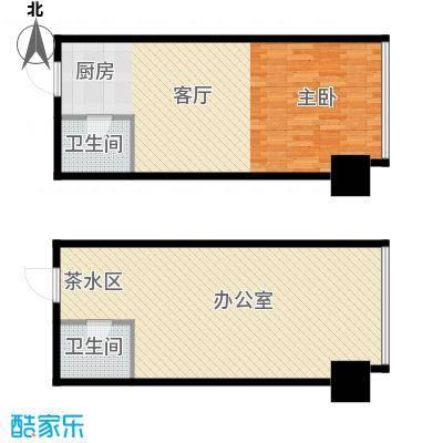 城市中坚79.41㎡F标准层平面图户型10室