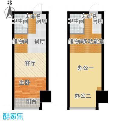 城市中坚75.16㎡C标准层平面图户型10室