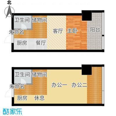 城市中坚92.93㎡E标准层平面图户型10室