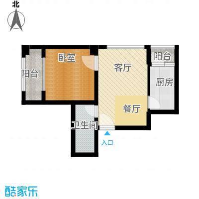 国际总部花园62.00㎡A1户型1室1厅1卫