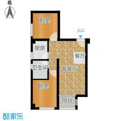 国际总部花园83.00㎡A2户型2室2厅1卫