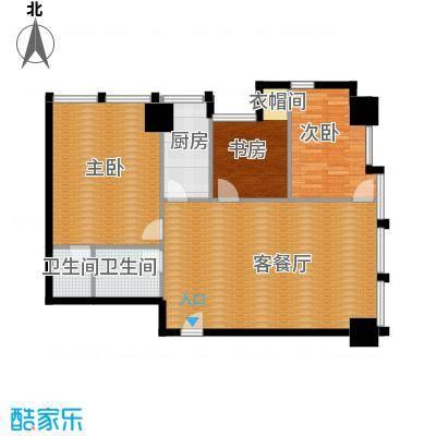 中基国际公馆139.37㎡E户型3室2厅2卫