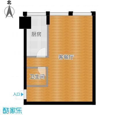 中基国际公馆61.23㎡C户型1室1厅1卫