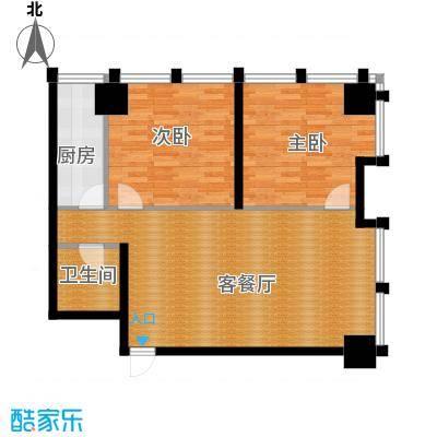 中基国际公馆118.70㎡D户型2室1厅1卫