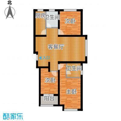 肯彤国际113.84㎡a户型3室2厅2卫