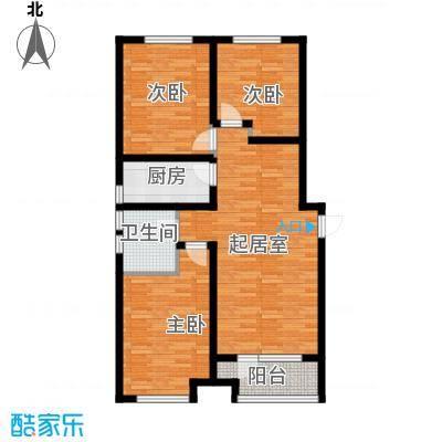 肯彤国际117.14㎡e户型3室2厅1卫