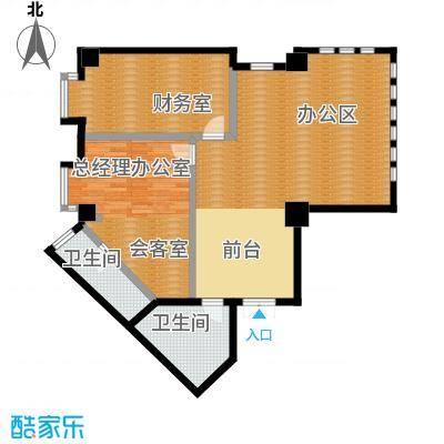 中天世都136.68㎡A区6户公寓01户型2卫