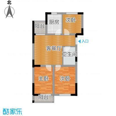 爵士公馆81.84㎡D户型3室2厅1卫