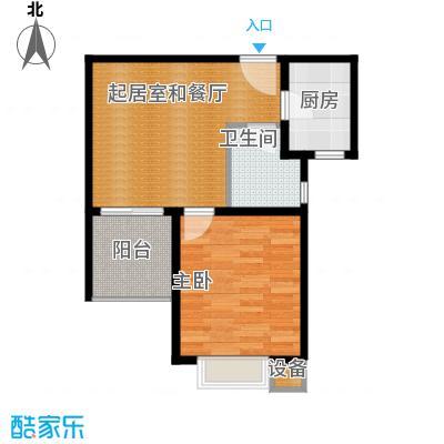 珠峰国际花园三期60.91㎡27号楼-01-1户型1室1卫1厨