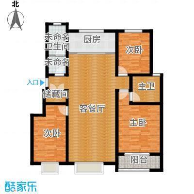 心海湾二期136.46㎡C户型3室2厅2卫
