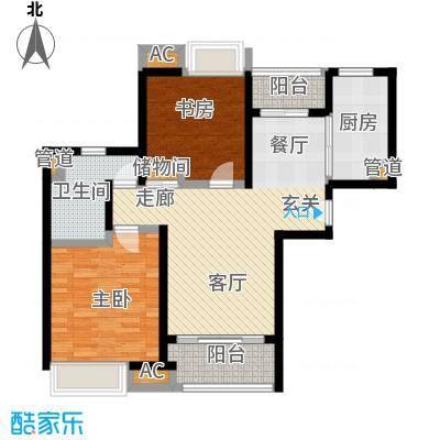 启航社晶彩启航社晶彩户型图二房二厅一卫,面积约87平方米(8/9张)户型10室