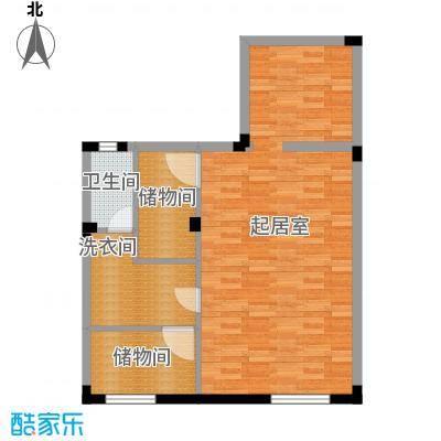 宏图上水庭院65.96㎡联排H-D地下层户型10室