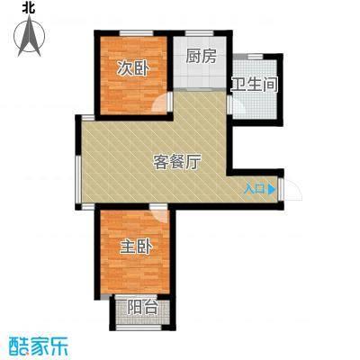 想象国际88.53㎡C户型2室2厅1卫