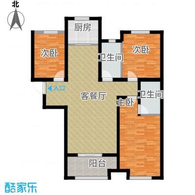 想象国际135.96㎡D户型3室2厅2卫