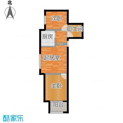 想象国际67.21㎡R户型2室1厅1卫